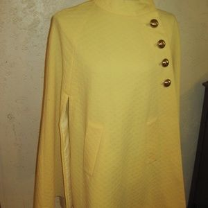 Btight Yellow Waffle Fabric Vintage Cape Jackets & Coats - Bright Yellow Waffle Fabric Vintage Cape One Size
